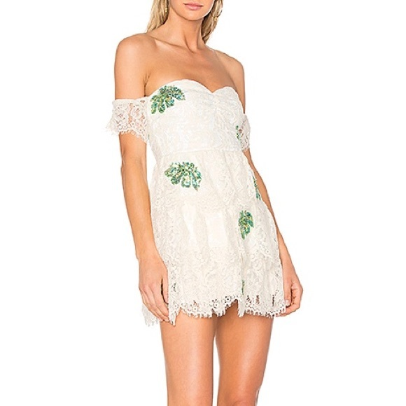 Lovers + Friends Dresses & Skirts - Lovers + Friends Ivory Palm Lace Dress - OFFER 💓